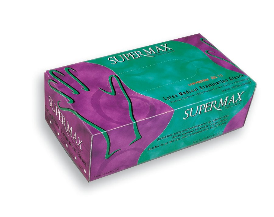 powder supermax surgical gloves latex Free malaysia