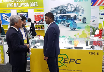 MREPC officer attending enquiries at AAPEX 2019