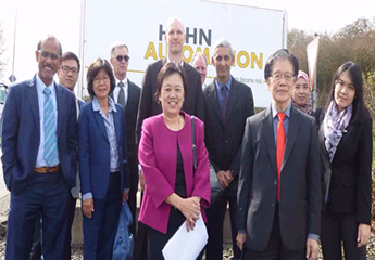 Group photo of MREPC and Malaysian delegates with Hahn Automation.
