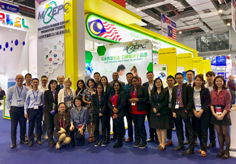 Group photo taken in front of MREPC Pavilion at CMEF Spring 2019.