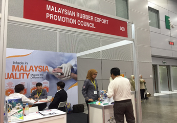MREPC executives attending to visitor's enquiry and having discussion with some of the visitors at the booth.