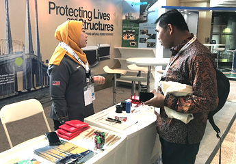 Promotion of Seismic Bearings at the International Conference on Building Resilience