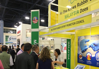 MREPC officer attending to visitors at the booth